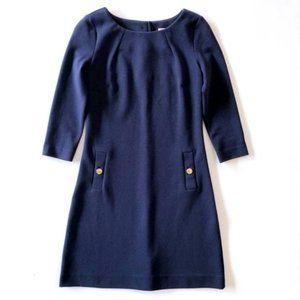 LILLY PULITZER Women's Navy Career Midi Dress XS